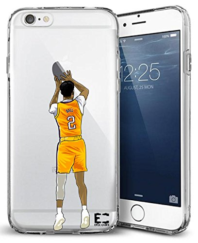iPhone 6/6S iPhone 7/iPhone 8 Hülle Epic Cases Ultra Slim Crystal Clear Basketball Series Soft Transparent TPU Case Cover Apple (iPhone 6/6s) (iPhone 7) (iPhone 8), iPhone 6/7/8 Plus, Ball