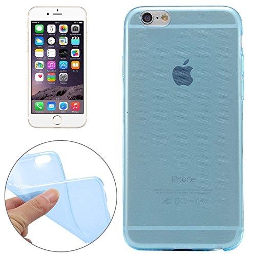 Phone case & Hülle Für IPhone 6 / 6S, 0.3mm Ultradünner transparenter weicher TPU schützender Fall ( Color : Black ) Blue