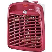 Di4 Calore Rosso-Calefactor, 2000W de Potencia, 3 Posiciones De Temperatura, Rojo