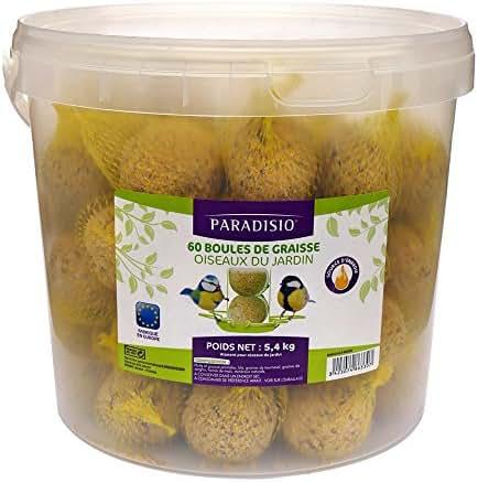 Paradisio : Aliment Oiseaux Du Ciel: 60 Boules De Graisse