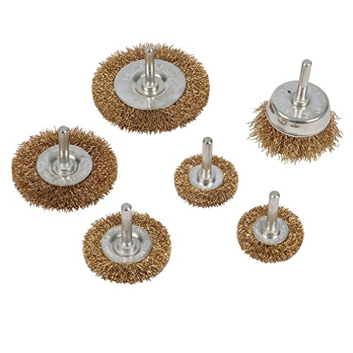Silverline 993067 Wire Wheel and Cup Brush Set 6 mm Shank - Pack of 6 Test