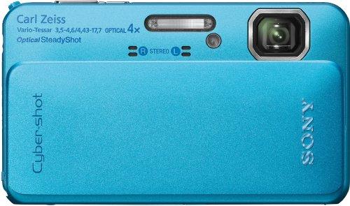 Sony DSC-TX10L Digitalkamera (16 Megapixel, 4-fach opt. Zoom, wasserdicht bis 4m,Full HD Video, 7,6 cm (3 Zoll) Display) blau