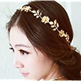 Chicer Wedding Hair Accessories With Crystal Flower And Leaf Headpiece For Women And Girls