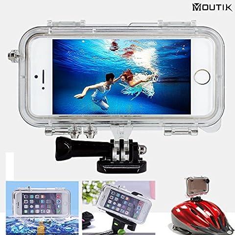 Moutik® Boîtier Etanche pour iphone SE&5S&5&5C Sous Marin IPX68 Imperméable