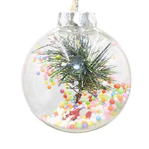 Yogogo Decoration De Table Noel Boule Plastique A Suspendre DéCoration d'arbre De NoëL Cadeau - Christmas Party Ornament