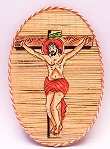 DC ECO Home Decorative Wall Hanging Jesus Christ for Living Room, Bamboo Made(Made in India)
