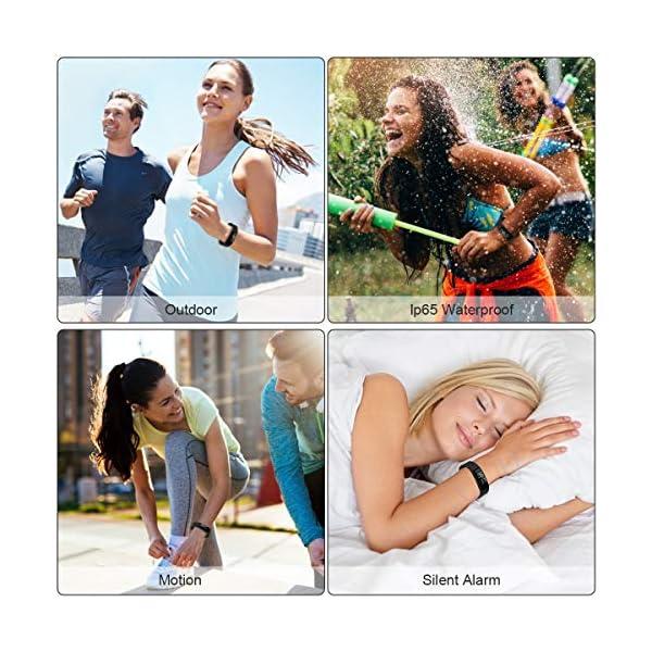 Hootracker Pulsera Actividad Fitness Smart Watch Tracker Contador de Pasos, Contador de Calorías,Distancia niños Mujer… 3