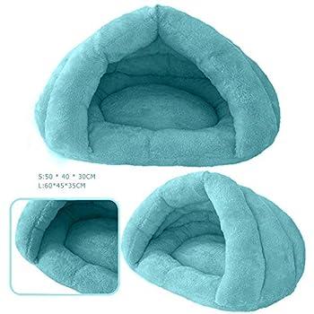 UEB Maisons Et Dômes Chat Chien Doux Nid Chaud Chen Lit Lit Cave House Couchage Tapis Protection Bleu S