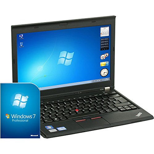 Lenovo ThinkPad X230 Subnotebook (Intel Core i5 3320M Dual-Core, 2.6 GHz, 4 GB RAM, 320 GB HDD, 31,8 cm / 12,5 Zoll Anti Glanz 16:9 WXGA 1366 x 768, Windows 7 Professional, ENGLISCHES Tastaturlayout)