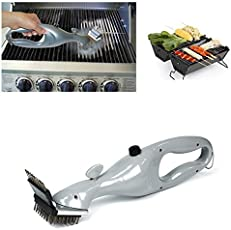 HITSAN INCORPORATION Barbecue Stainless Steel BBQ Cleaning Brushes Outdoor Grill Cleaner with Steam Power BBQ Accessories