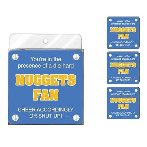 Nc38146 Nuggets Basketball Fan 4-Pack Artful Coaster Set