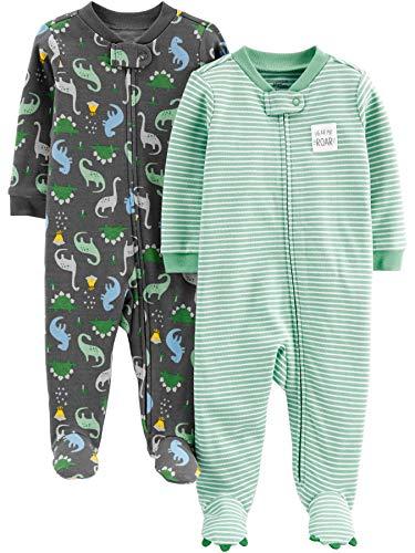 Simple Joys by Carters Confezione da 2 Piedini in Cotone per Dormire E Giocare Infant-And-Toddler-Sleepers Bambino