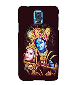 printtech Lord Radha Krishna God Back Case Cover for Samsung Galaxy S5 G900i::Samsung Galaxy S5 i9600::Samsung Galaxy S5 G900F
