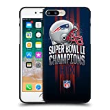 Head Case Designs Offizielle NFL New England Patriots 1 2017 Super Bowl Li Champion Soft Gel Hülle Schwarz für Apple iPhone 7 Plus/iPhone 8 Plus