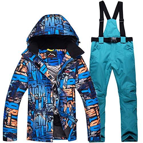 JIAKENVDE Skianzug Skianzug Männer Frauen Wasserdichte Skijacke Kleidung Outdoor Winter S