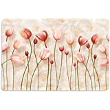 Place Mats For Dining Table Set Of 6, Place Mats In Heavy Cotton, Tulips HD Digital 12 By 18 Inches ( Set Of 6), By Walls And Murals