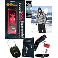 Snowboarders Gift Pack - Snowboard Strap, Lock & Tool