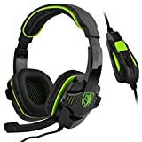 SADES SA708 verdrahtet 3,5 mm Audio Stecker Gaming Headset Kopfhörer Gaming mit Mikrofon (grün) - 3
