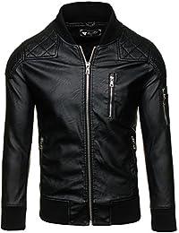 BOLF – Veste sans capuche – Faux cuir – Fermeture éclair – FEIFA FASHION 9156 Homme [4D4]