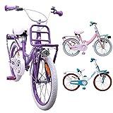 AMIGO - Dots - Bicicletta Bambini - 20'' (per 5-9 Anni) - Viola