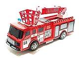 Unbekannt Feuerwehrauto Einsatzwagen Kinderspielzeug Feuerwehr Auto Truck LKW Löschfahrzeug Leiterwagen LED & Sirene