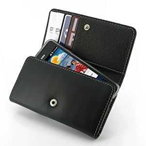 PDair WX1 Black Leather Wallet for Samsung Galaxy SII S2 GT-i9100