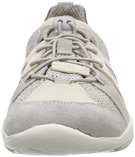 Geox D Arrow C, Baskets Basses femme Gris - Gris clair (C1010)