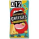 CHEESIES Crunchy Cheese Snack, Cheddar. No Carb, No Sugar, High Protein, Gluten Free, Vegetarian, Keto (12 x 20g Bags)