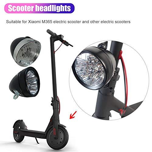 Lossomly Lámpara de Bicicleta LED Faro Faro Retro 9no monopatín Faros de luz LED para Xiaomi M365...