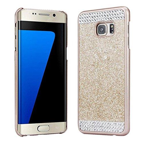 Preisvergleich Produktbild Für Samsung Galaxy S7 Edge hülle,  Saingace® Kristallrhinestone -Kasten-Abdeckung für Samsung Galaxy S7 Edge Case Cover (Gold)
