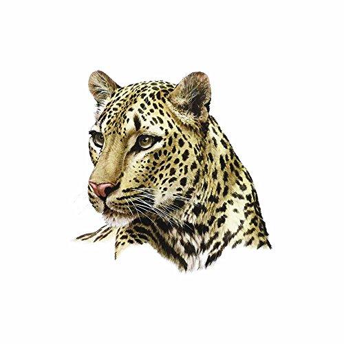 WYUEN 5 Blätter Cheetah Temporäre Tattoo Aufkleber Ake Wasserdichte Tattoo Für Frauen Kinder Körperkunst 9,8X6 cm A-322