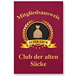 DankeDir! Clubausweis Club der Alten Säcke, Kunststoff Schild - Geschenk Runder Geburtstag, Geschenkidee Geburtstagsgeschenk Männer, Geburtstagsdeko/Partydeko / Party Zubehör/Geburtstagskarte