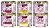 Animonda Integra Protect Diabetes 3 Sorten Mix, Diät Katzenfutter, Nassfutter bei Diabetes mellitus (6 x 200 g)