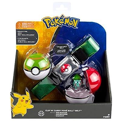 Pokèmon TOMY Cinturón de Poké Balls con Poké Balls para jugar y coleccionar, a partir de 4 años, surtido: modelos/colores aleatorios de TOMY