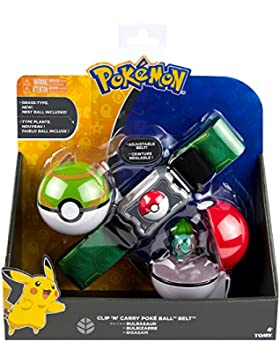 Pokèmon TOMY Cinturón de Poké Balls con Poké Balls para jugar y coleccionar, a partir de 4 años, surtido: modelos...