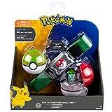 Pokèmon TOMY Cinturón de Poké Balls con Poké Balls para jugar y coleccionar, a partir de 4 años, surtido: modelos/colores aleatorios