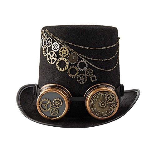 (dream cosplay Gotisch Steampunk Hüte Zylinder (Kopfumfang von ca. 61cm))