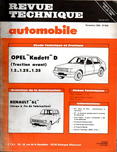 t l charger pdf revue technique automobile n 405 opel kadett d 1 2 1 2 s 1 3 s traction. Black Bedroom Furniture Sets. Home Design Ideas
