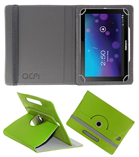 Acm Rotating 360° Leather Flip Case for Karbonn Smart Tab 7 Tornado Cover Stand Green  available at amazon for Rs.149