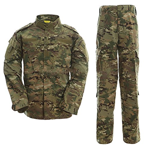 ALK Softair Paintball Tarn-Uniform Set, Jacke/Hose, multicam, S -