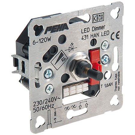 peha Drehdimmer Unterputz D 431 HAN LED o.A. LED Elektronische Geräte/Lichtmanagement Dimmer 4010105260625