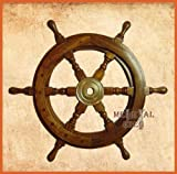 Maritime Decorative Ship Wheel - Handmade Hard-wood Ship Wheel 18 inch by casanova nauticals