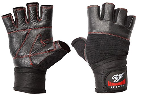 ARMAGEDDON SPORTS Real Piel Fitness Guantes Hombres