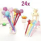 JZK 24 Lollipop penna divertente set penne a sfera biro blu penna bambini regalo ragazzi adolescente bomboniera pensierino festa compleanno pensiero bambini