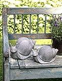 Unbekannt | Deko Schnecke HANI 26x15x15 cm Schneckenfigur Garten | Keramik Grau | Gartenfigur Gartendeko Sommer Herbst