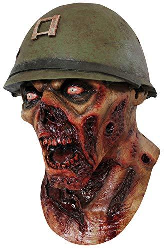 CAPTAIN Lester ARMEE Zombie KOPF MASKE - LATEX HOHE QUALITÄT, HALLOWEEN ODER SPIELEN (Maske Soldat Zombie)