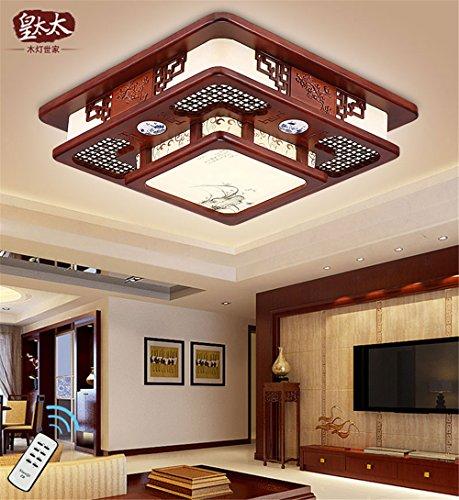 BRIGHTLLT Neue chinesische Decke lampe leuchtet Emulation retro Holz Kunst Qualität China Wind das Esszimmer, Schlafzimmer, 470 mm Einhaltung der Lampen - Chinesische Lampe