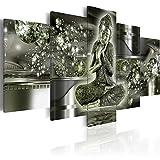 murando - Bilder 225x112 cm - Vlies Leinwandbild - 5 Teilig - Kunstdruck - Modern - Wandbilder XXL - Wanddekoration - Design - Wand Bild - Buddha h-A-0053-b-o