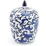 Azul y blanco–sauce estilo–pequeño jarrón China con tapa–lp40338