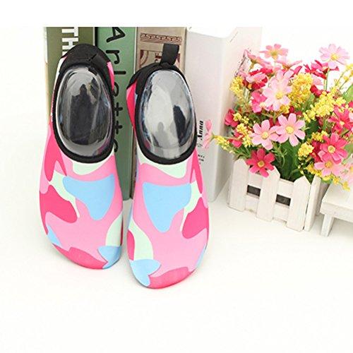 Zhuhaitf Unisexe Aqua Chaussures D'eau Respirant Séchage Rapide Plage Chaussures Natation Surf Yoga Anti-slip D'été Femmes Hommes Rouge